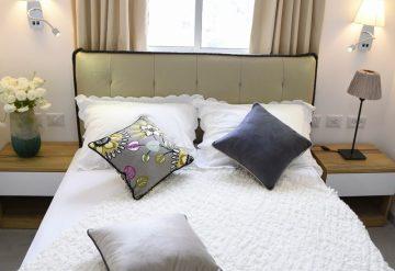 חדר השינה של דירת 2 חדרים בפרויקט אלמוגים